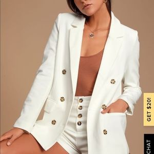 Honey Punch TERRACE WHITE BLAZER